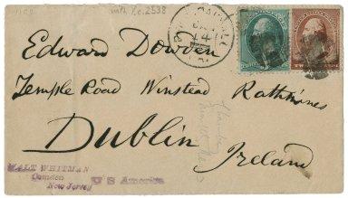 Autograph letter signed from Walt Whitman, Camden, N.J., to Edward Dowden, Dublin [manuscript], 1876 January 14.