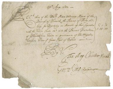 Accounts and bills of Warwick [manuscript].