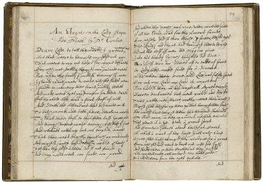 Poetical miscellany [manuscript], ca. 1640.
