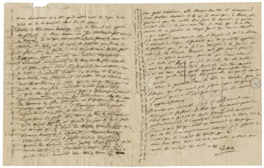 Autograph letter signed from François Joseph Talma, Paris, to Jean-Louis Ducis, Naples [manuscript], 1811 August 13.