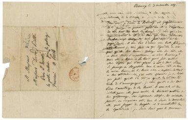 Autograph letter signed from François Joseph Talma, Brunoy, to Jean-Louis Ducis, Paris [manuscript], 1815 November 3.