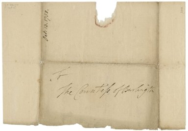 Autograph letters signed from David Garrick to the Countess of Burlington [manuscript]