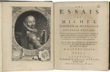 Les essais de Michel, seigneur de Montaigne.