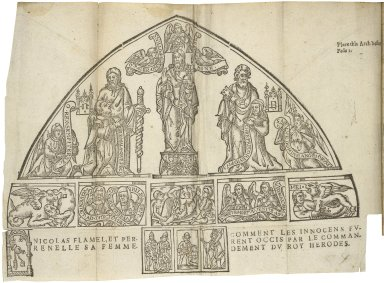Nicholas Flammel, his exposition of the hieroglyphicall figures which he caused to bee painted vpon an arch in St. Innocents Church-yard, in Paris. Together with the secret booke of Artephius, and the epistle of Iohn Pontanus: concerning both the theorick