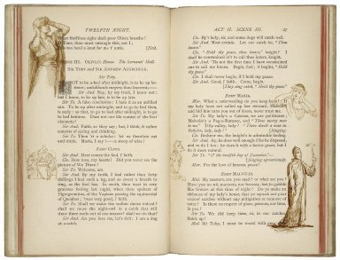 [Twelfth night] Twelfth night; or, What you will : a comedy in five acts / by William Shakespeare ; as arranged for the stage by Henry Irving, and presented at the Lyceum Theatre, 8th July, 1884.