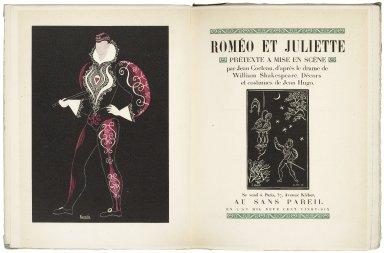 Roméo et Juliette : prétexte à mise en scène / par Jean Cocteau ; d'après le drame de William Shakespeare ; décors et costumes de Jean Hugo.
