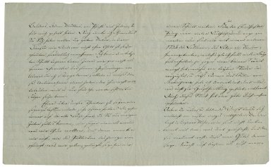 Letter signed from Johann Wolfgang von Goethe, Weimar, to Friedrich von Schlegel, editor and publisher of Deutches museum, Vienna [manuscript], 1812 April 8.