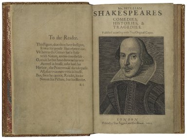 [Plays. 1623] Mr. VVilliam Shakespeares comedies, histories, & tragedies : published according to the true originall copies.