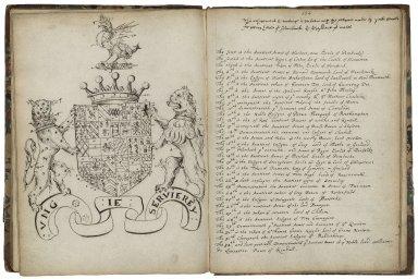 Alphabet of arms [manuscript], ca. 1620.