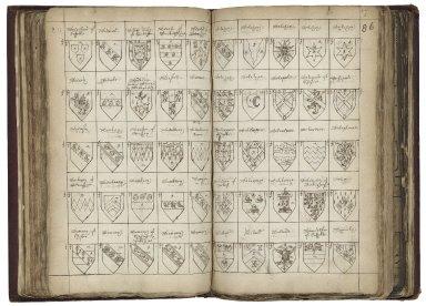 Alphabet of arms [manuscript], ca. 1600.