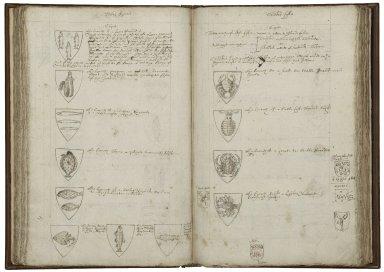 A display of heraldry [manuscript], ca. 1610.