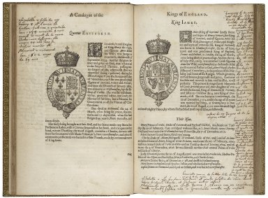 A catalogue and succession of the kings, princes, dukes, marquesses, earles, and viscounts of this realme of England, since the Norman Conquest, to this present yeare, 1619. Together, vvith their armes, vviues, and children: the times of their deaths and burials, with many their memorable actions. Collected by Raphe Brooke Esquire, Yorke Herauld: discouering, and reforming many errors committed, by men of other profession, and lately published in print; to the great wronging of the nobility, and preiudice of his Maiesties officers of armes, who are onely appointed and sworne to deale faithfully in these causes.