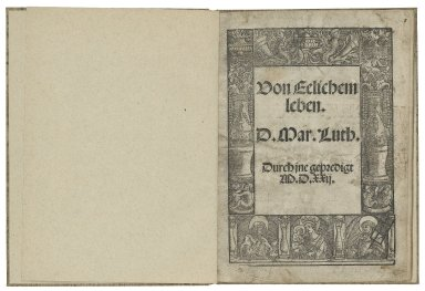 [Vom ehelichen Leben] Von Eelichem leben / D. Mar. Luth. Durch jne gepredigt.