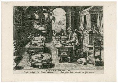Lapis polaris, magnes [graphic] / Ioan. Stradanus inuent.
