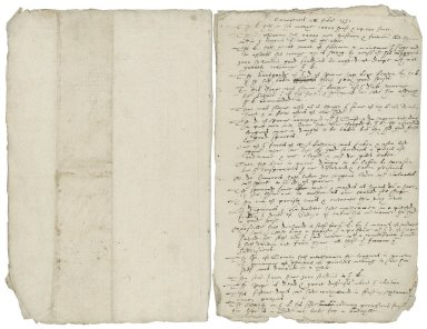 Copy of Newsletter of occurrences in Europe, February 2, 1592 [manuscript], 17th century?