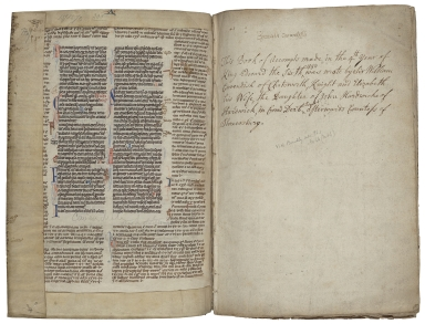 Account book of Sir William and Lady Cavendish of Chatsworth