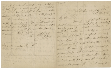 Autograph letters signed from Ira Frederick Aldridge to various people [manuscript], 1834-1860.
