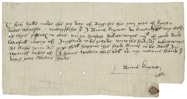Promissory notes to Thomas Cromwell, Earl of Essex and others