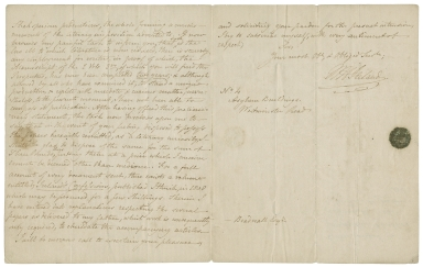 Autograph letter signed from W.H. Ireland, London, to Mr. Beadnall [manuscript], 1833 December 19.