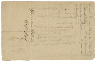 Collection of German papers relating to William Shakespeare [manuscript], 1777-1912.  Autograph library slip signed.