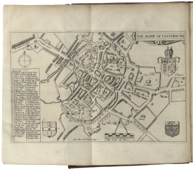 The antiquities of Canterbury. Or a survey of that ancient citie, with the suburbs, and cathedrall. Containing principally matters of antiquity in them all. Collected chiefly from old manuscripts, lieger-bookes, and other like records, for the most part,