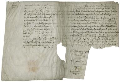Order and agreement of Barnard's Inn, London, with John Povey, Gent. [manuscript], [1588?] June 18.