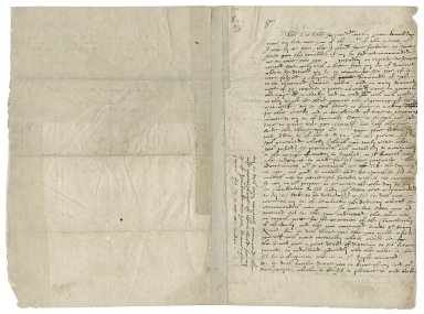 Autograph letter signed from John Woodford to an unnamed man in London, perhaps a Privy Councilor