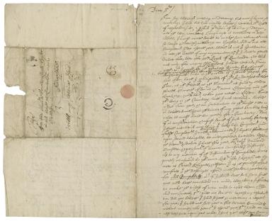 Autograph letter signed from John Gadbury to Edward Lloyd of Shropshire