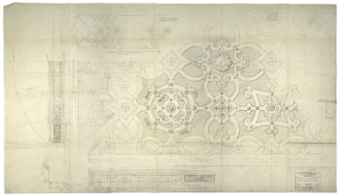 Architectural Drawing of Great Hall plaster ceiling