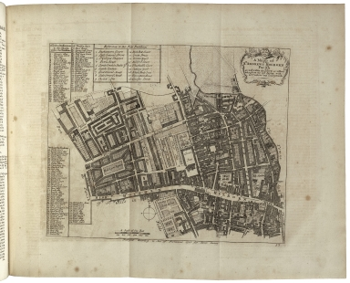 [Survey of London] A survey of the cities of London and Westminster, and the borough of Southwark. ... Written at first in the year 1698, by John Stow, ... Corrected, improved, and very much enlarged, in the year 1720, by John Strype, ... In two volumes. ...