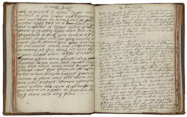 Cookbook of Constance Hall [manuscript], 1672.