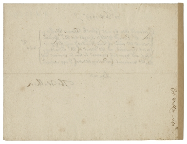 receipt from Thomas Walker to Sir Edward Walker for 250 livres