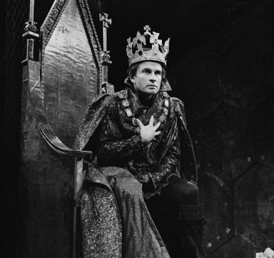 Ian Holm as Richard III from The Goode Collection of ca. 15,000 photographic negatives and accompanying printed programs of Royal Shakespeare Company productions, 1958-1968. [graphic]