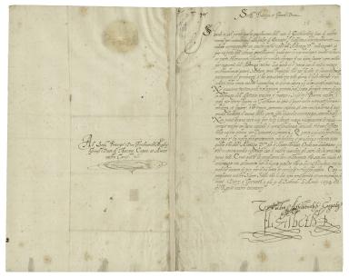 Letter from Elizabeth I, Queen of England, Greenwich, to Don Ferdinando de'Medici, Grand-Duke of Tuscany [manuscript].