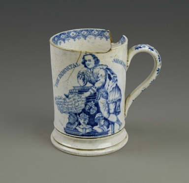 [Mug with portrait of Shakespeare and image of the Mulberry Tree] [realia]