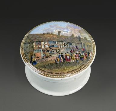 [Pomade jar depicting Shakespeare's house] [realia]