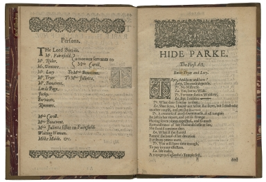 Hide Parke a comedie, as it vvas presented by her Majesties Servants, at the private house in Drury Lane. Written by Iames Shirly.