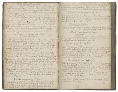 Cookbook of Jane Dawson [manuscript], late 17th century.