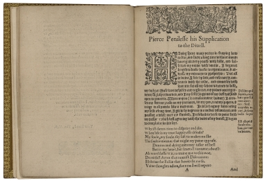 Pierce Penilesse his supplication to the diuell. Barbaria grandis habere nihil. Written by Tho. Nash, Gent.