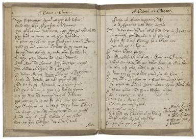A game at chess [manuscript].
