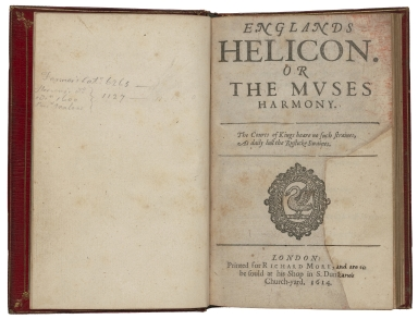 Englands Helicon. Or The Muses harmony.