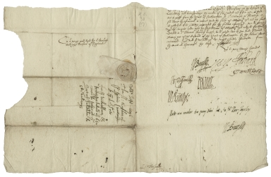 Letter signed from the Privy Council, Greenwich, to William Cecil, Baron Burghley, Lord High Treasurer