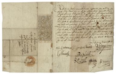 Letter signed from the Privy Council, Richmond, to unidentified recipient