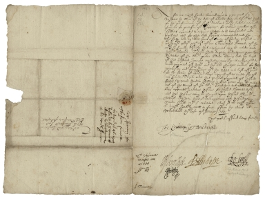 Letter signed from Privy Council, Whitehall, to Thomas Sackville, Lord Buckhurst, Lord High Treasurer of England
