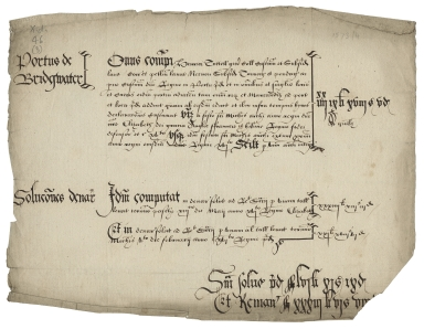 Accounts of the collectors of customs, etc., in 12 English ports