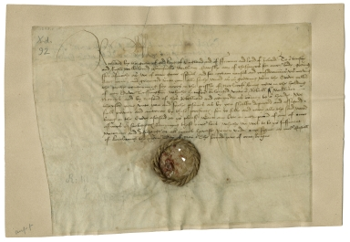 Warrant from Richard III, King of England, Kenilworth, to William Catesby