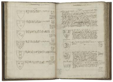 A display of heraldry [manuscript].