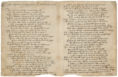 Copy of poem on Sir Walter Raleigh, ca. 1603