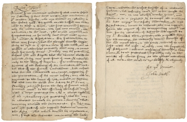 Copy of letter from John South to an unidentified recipient, ca. October 30, 1618