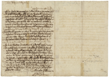 Autograph letters signed from Lorenzo Magalotti, Florence, to Guido Rasponi at Ravenna